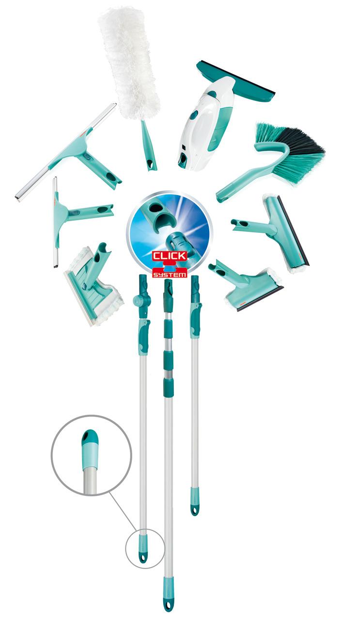 מוט טלסקופי מסדרת click system המתאים למבחר ראשים לניקוי ונמתח מ-145 עד 400 ס