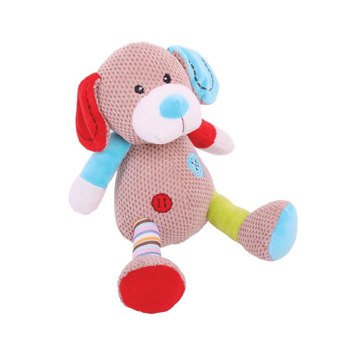 בובה רכה לתינוק - ברונו הכלב בינוני