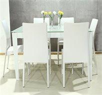 סט פינת אוכל נפתחת הכוללת 6 כסאות