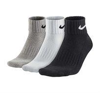 שלישיית גרבי Nike יוניסקס בצבע שחור/אפור/לבן