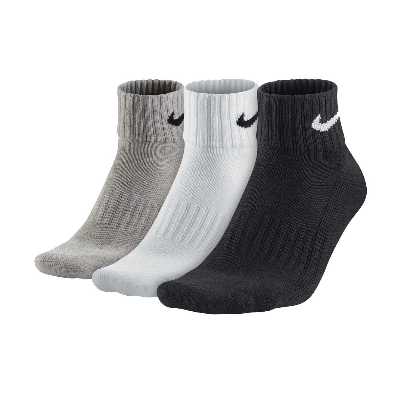 שלישיית גרבי יוניסקס - שחור/אפור/לבן