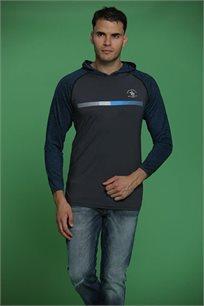 חולצת קפוצ'ון לגברים בשני צבעים לבחירה