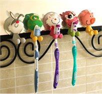 סט 5 מעמדי מברשות שיניים לילדים במבחר צבעים ודמויות, הופך את חווית הצחצוח למהנה