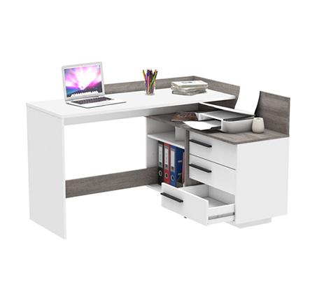 שולחן עבודה פינתי בשילוב מדפים ומגירות תוצרת צרפת דגם TALIS