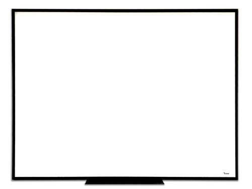 לוח מחיק זכוכית מגנטי לבן 100x200 ס''מ עם מסגרת שחורה ותליה נסתרת - תמונה 3