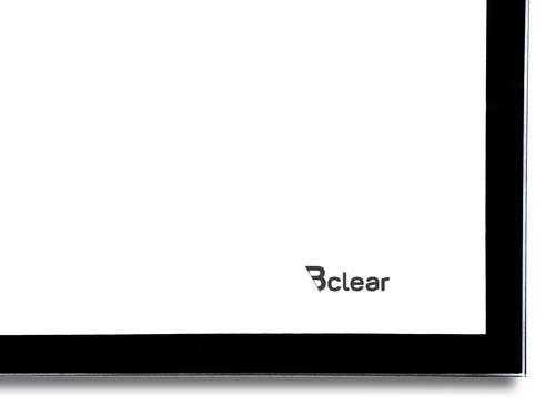 לוח מחיק זכוכית מגנטי לבן 100x200 ס''מ עם מסגרת שחורה ותליה נסתרת - תמונה 2