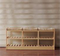 ספסל 3 מושבים מעוצב לישיבה ואחסון
