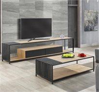 מערכת סלונית הכוללת שולחן ומזנון טלוויזיה בעיצוב מודרני דגם פסיפיק