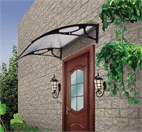גגון רב שימושי לפתחים של דלתות, חלונות, ומרפסות להגנה מפני שמש וגשם עשוי חומר מגן UV