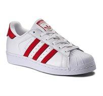 נעליים יוניסקס ADIDAS MEN'S SUPERSTAR BZ0191 בצבע לבן/אדום