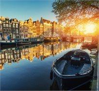 """טיסה בלבד או חבילת נופש באמסטרדם ל-2-5 לילות במלון ע""""ב ארוחת בוקר החל מכ-$171* לאדם!"""