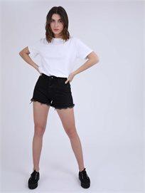 ג'ינס קצר אדל שחור סטייל ריבר
