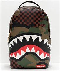 Sprayground תיק גב גולשים חום מהפנט מסדרת Camo Checkered Backpack