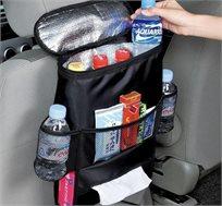 ארגונית לגב מושב הרכב המשלבת חלל אחסון רב ותיק מבודד קור וחום