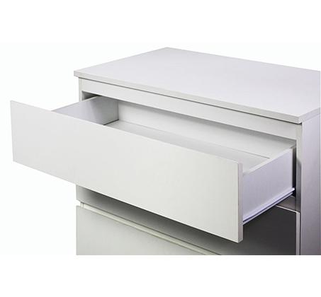 קומודה מעוצבת לחדר השינה בעלת 3 מגירות אחסון דגם לורי מבית GAROX  - תמונה 3