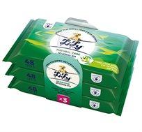 מארז חיסכון הכולל 9 חבילות נייר טואלט לילי לח 48 מגבונים בחבילה