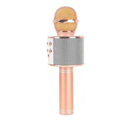 מבריק מיקרופון אלחוטי איכותי גדול לקריוקי בעל רמקול Bluetooth ואפשרות XD-12