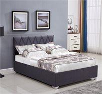 מיטה זוגית מעוצבת עם תיפורי נוי קאפיטונאז' בריפוד בד עם ארגז מצעים דגם אוליבר HOME DECOR