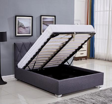 מיטה זוגית מעוצבת עם תיפורי נוי קאפיטונאז' בריפוד בד עם ארגז מצעים דגם אוליבר HOME DECOR - תמונה 3