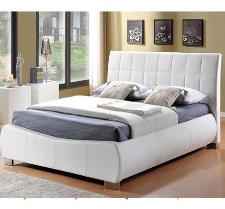 מיטה זוגית JASMINE בריפוד עור בעיצוב איטלקי GAROX