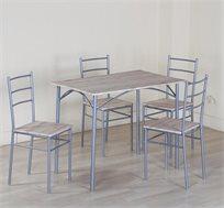 פינת אוכל מעץ הכוללת שולחן + 4 כסאות