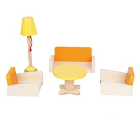 משחק רהיטי סלון מעץ לילדים הכולל 5 חלקים  BGIFTS