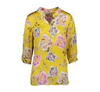 חולצה פרחונית לנשים Punt Roma בצבע צהוב