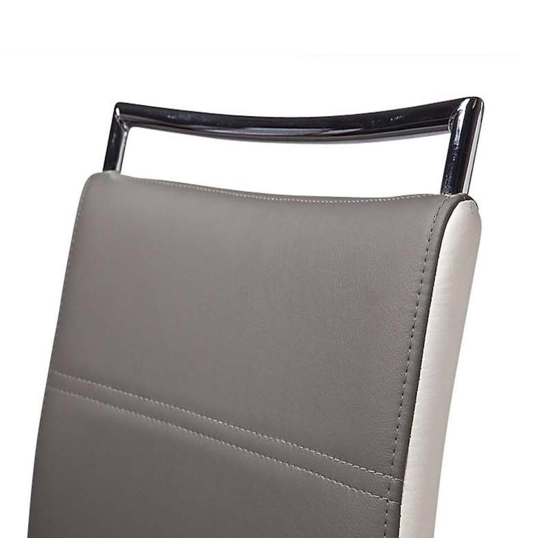 זוג כסאות בר דגם Didoo בריפוד דמוי עור מבית Ze Sweet Home בגוונים לבחירה - משלוח חינם - תמונה 3