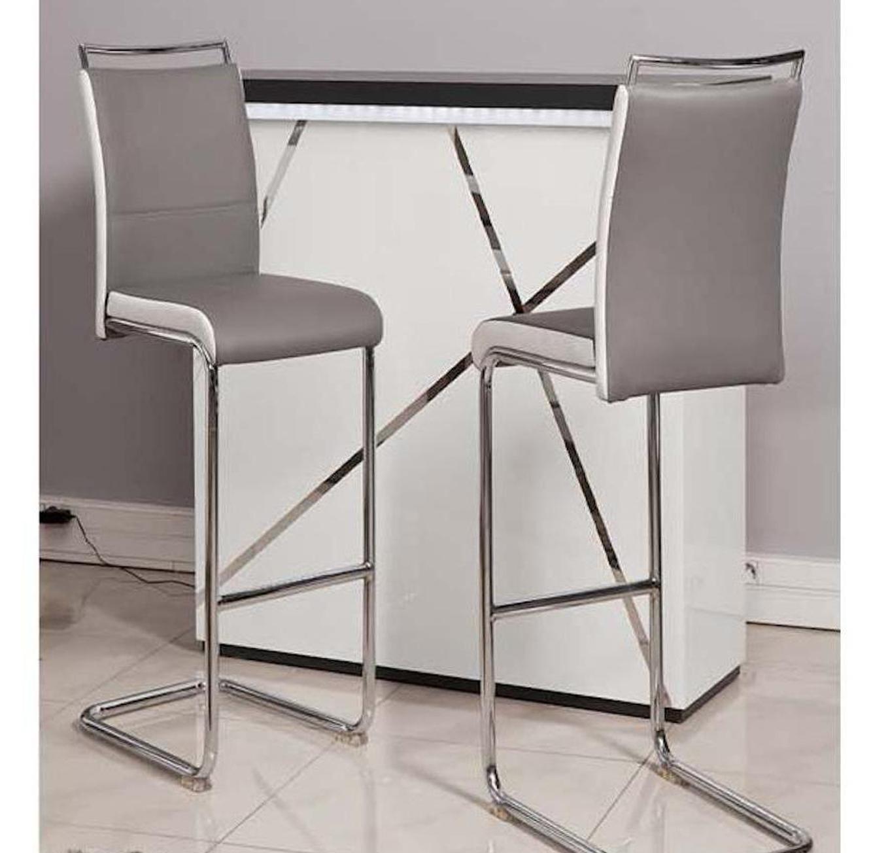 זוג כסאות בר דגם Didoo בריפוד דמוי עור מבית Ze Sweet Home בגוונים לבחירה - משלוח חינם - תמונה 4