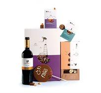 מארז יין שוקולדים לחג Roy Chocolate