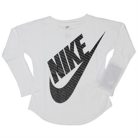 Nike ילדות קטנות// Girls Jumbo Fitira Ls Tee White