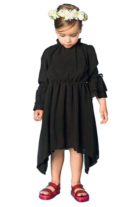 Oro שמלת שיפון שחורה (6-3שנים)