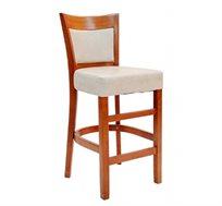 כסא בר למטבח מעץ כולל ריפוד מושב עבה דגם אשל