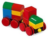 רכבת קוביות מגנטית מעץ 11 חלקים 30124
