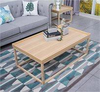 שולחן קפה מעוצב בסגנון עכשווי בגוון עץ טבעי