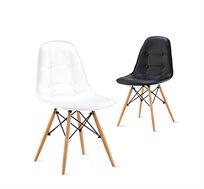 כסא בריפוד דמוי עור לפינת אוכל