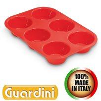 תבנית סיליקון 6 שקעים רב שימושית מבית GUARDINI תוצרת איטליה