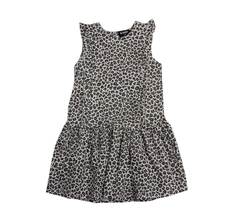 שמלת וולן לילדות - אפור בהיר