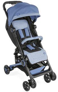 עגלת תינוק וטיולון קליל וקומפקטי מינימו 2 Miinimo עם גגון מוגדל ופגוש - כחול/שחור Avio