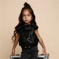 ORO ווסט עור (7-2 שנים) - שחור מבריק