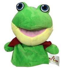 בובת כפפה גדולה עם אפקטים קוליים לפעוטות - צפרדע