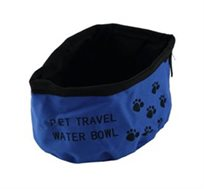 צלחת למים לכלב - מתקפלת לטיולים