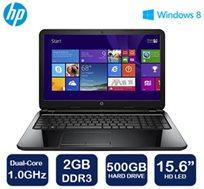 """אספקה מהירה עד 72 שעות! מחשב נייד מבית HP בעל מסך בגודל """"15.6, דיסק קשיח בנפח 500GB ו-WIN 8.1"""