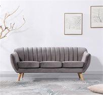 ספה תלת מושבית מעוצבת בעיצוב רטרו עם ריפוד בד קטיפה נעים למגע דגם רותם HOME DECOR