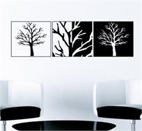 מדבקת קיר - תמונות בשחור לבן מסדרת WALL PHOTO, מעוצבת בסגנון תמונת קיר ויוצרת אפקט של ציור