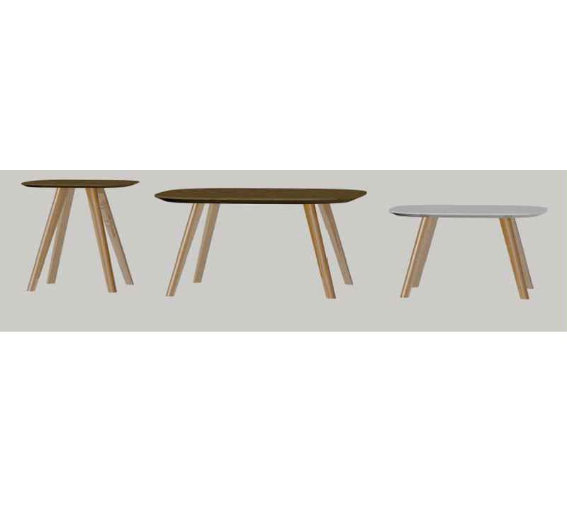 שולחן קפה מרובע לסלון דגם מיסי ביתילי בעל רגלי עץ בעיצוב כפרי - תמונה 4