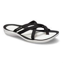 Crocs Swiftwater Webbing Flip W - כפכפי רצועות שתי וערב בצבע שחורלבן