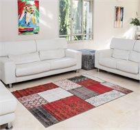 """שטיח סלוני 200X290 ס""""מ דגם וינטג פאטצ' אדום"""