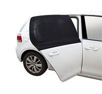 סט מגני שמש איכותיים לרכב הכולל מגן שמש מתלבש על החלון ומגן קדמי אקורדיון קשיח עמיד עם ציפוי לייזר