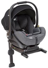 סלקל לתינוק עם מצבי שכיבה I-Level ובסיס איזופיקס באפור Ember